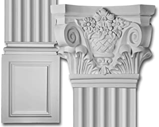 Decorative Interior Column - Corinthian Flat Column Set