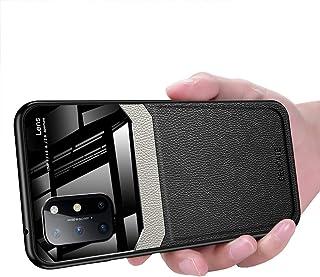 OnePlus 8T Case, Ikwcase Business Slim Litchi Skin Anti-slip TPU Bumper Hybrid Glass Lens Protective Case Cover for OnePlu...