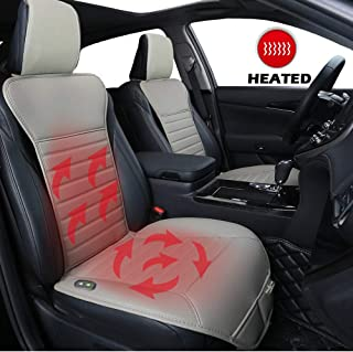 Big Ant Heated Seat Cushion, 12V Car 24V Truck Seat Heater Sleek Design Nonslip Heating Pad Winter Warmer - Heated Seat Cover Universal Fit for Auto Supplies Home Office Chair(Gray)