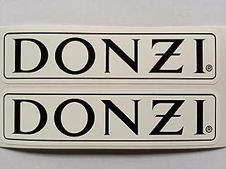 2 DONZI Speed Boat Black & White Die Cut Decals
