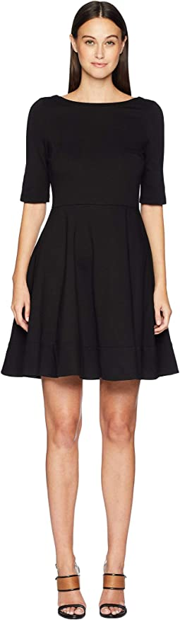 Broome Street Lace-Up Ponte Dress