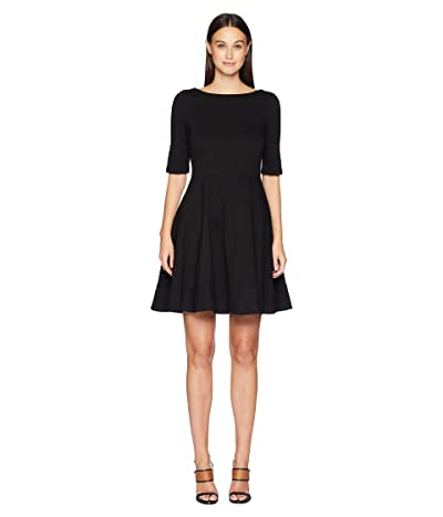 Kate Spade New York Broome Street Lace-Up Ponte Dress (Black) Women