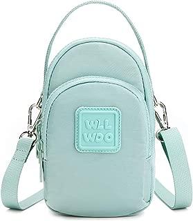WLLWOO Crossbody Bag, Women Shoulder Bag Tripple Zipper Pockets Mini Handbag Wrist Purse Adjustable Strap Sport Party