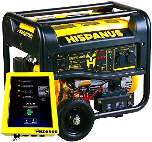 HISPANUS Benzin Stromerzeuger mit Fernbedienung