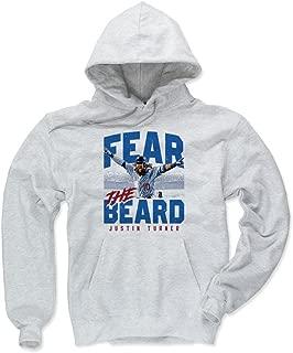 500 LEVEL Justin Turner Los Angeles Baseball Hoodie - Justin Turner Fear The Beard