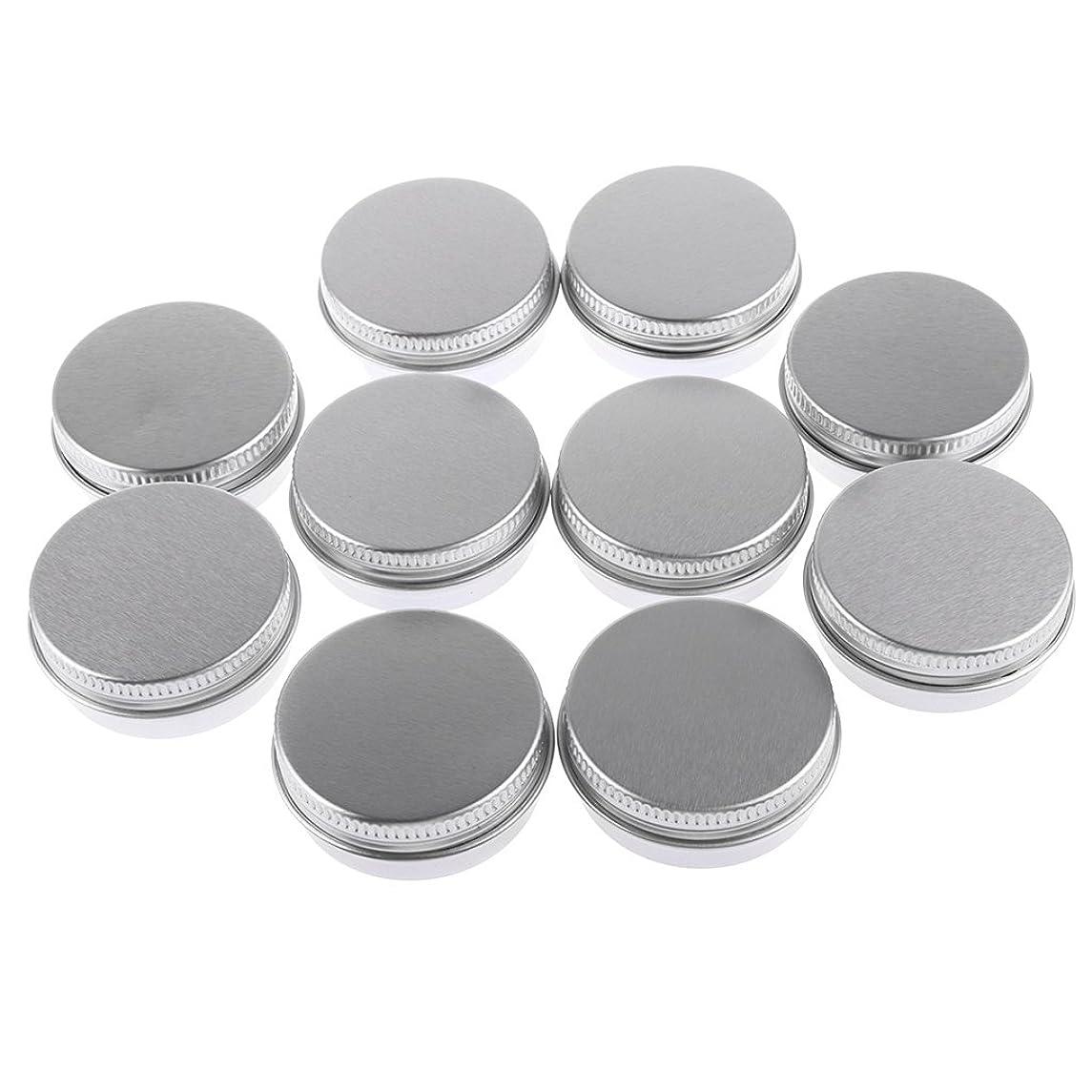 代替案侵入思い出させるBaosity 10個入り 化粧品用 空 瓶 クリーム 缶 容器 缶ケース 蓋付き 15g