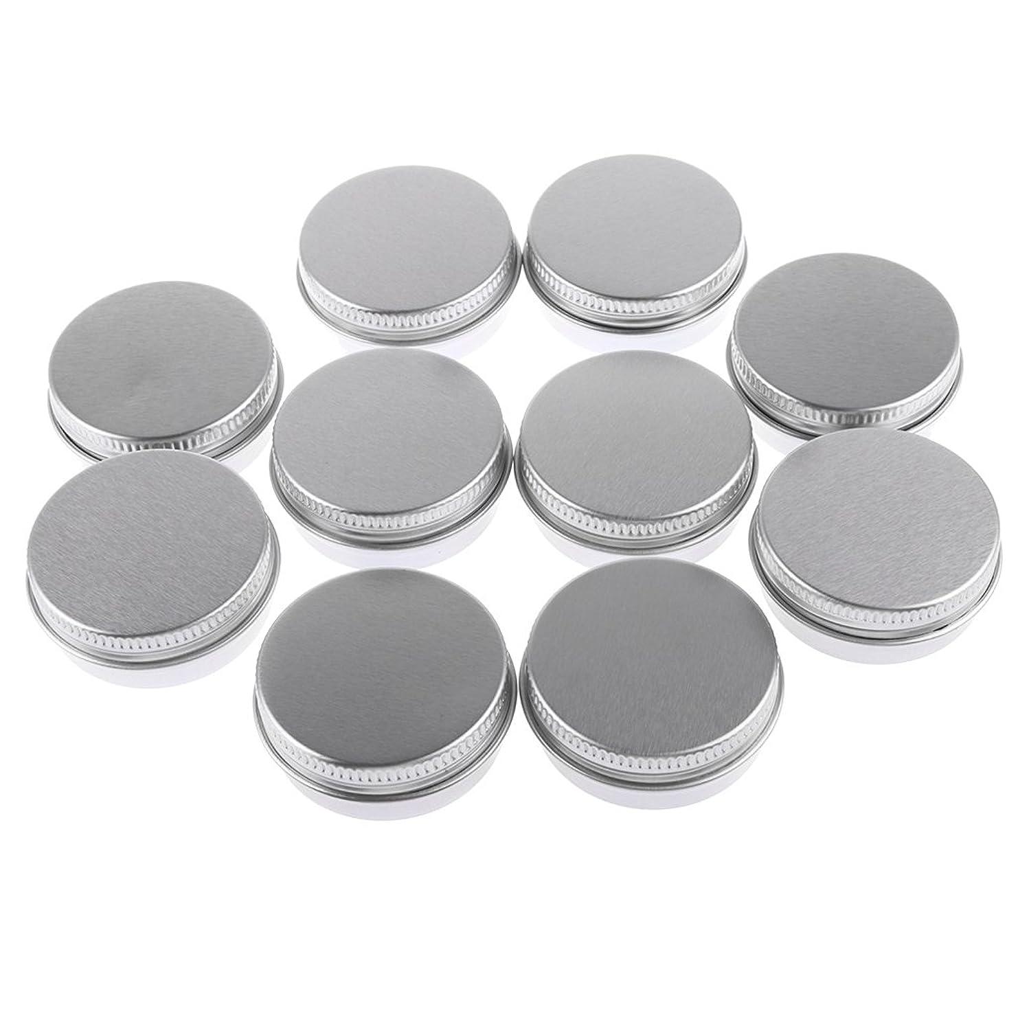 うれしいよろめく義務付けられたBaosity 10個入り 化粧品用 空 瓶 クリーム 缶 容器 缶ケース 蓋付き 15g