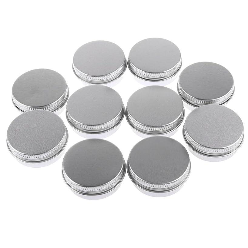 不良品インスタンス東Baosity 10個入り 化粧品用 空 瓶 クリーム 缶 容器 缶ケース 蓋付き 15g
