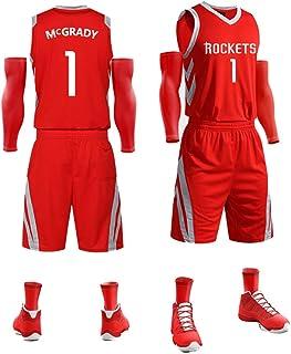 ヒューストンロケッツ Houston Rockets 1# Tracy McGrady トレーシーマグレディバスケットボールジャージ、ボーイズバスケットボールベスト、ショート、子