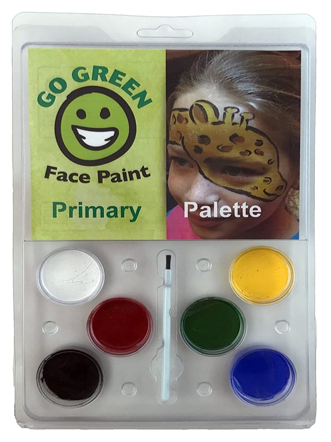 Face Paint Kit for Kids - Water-Based Paints for Many Faces Professional Award Winning Face Painting Set Safe for All Skin Types - 6 Washable Non-Toxic Face Paints Works Well with Stencils & Brushes