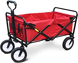 """Folding Shopping Cart Luggage Trolley Cart, Collapsible Garden Outdoor Park Utility Wagon Picnic Camping Cart, Standard Size 8"""" Wheels, for Travel, Shopping"""