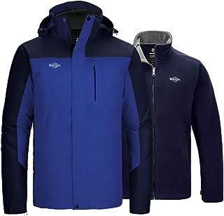 Wantdo Men`s 3 in 1 Mountain Waterproof Ski Jacket Warm Snow Winter Rain Coat