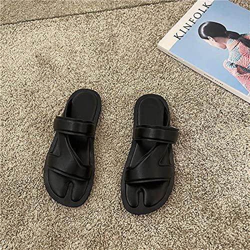 ypyrhh Verano de Las Mujeres Casual Chanclas,Zapatos de Mujer de Palabra Plana,Sandalias Casuales Casuales.-Negro_40,Sandalias con Plataforma Plana Hombre