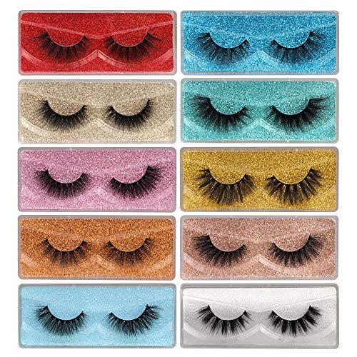 Newcally Lashes False Eyelashes Natural 3D Faux Mink Lashes 10 Pairs 10 Styles Fluffy Wispy Fake...