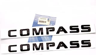 Yoaoo 2x OEM Pair Black Compass Altitude Emblems Letter Alloy Nameplate Emblems Compass Badges New 08-15 1 Set Glossy