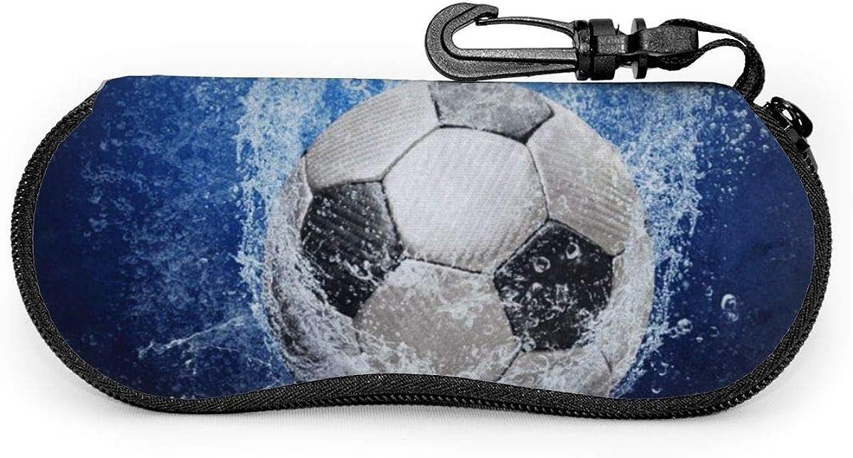 Sport Soccer Ball Glasses Case Unisex Eyeglasses Protective Case Zipper Eyeglass Box With Key Chain Universal Fits