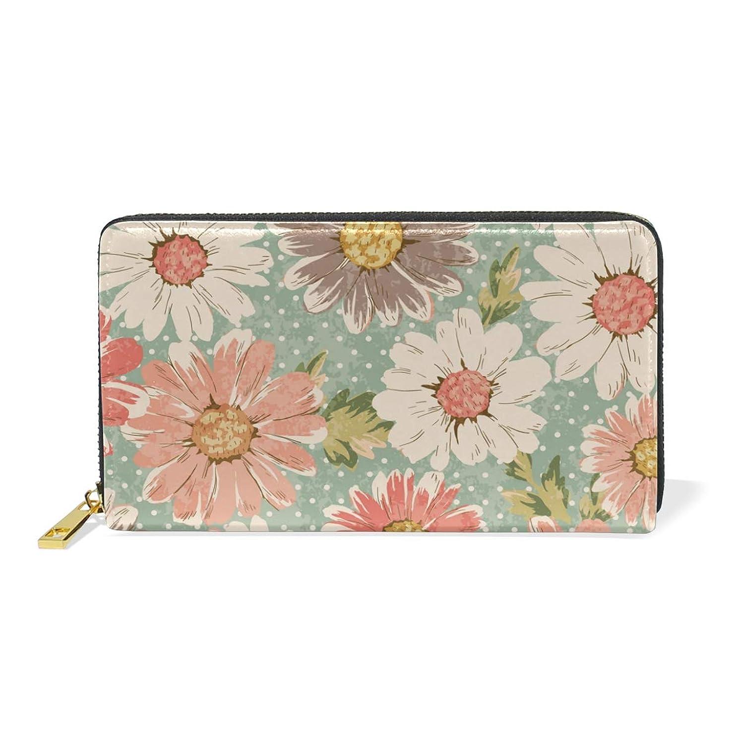 に沿ってブロンズ間隔マキク(MAKIKU) 長財布 レディース 大容量 花柄 レザー 革 プレゼント対応