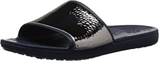 Crocs Women's Sloane Hammered Metallic Slide Sandal