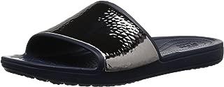 Crocs Women's Sloane Hammered Metallic Slide Sandal