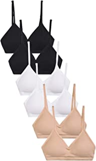 I&S Women's 6 Pack Seamless Sports Bras - Regular One Size or Plus Size