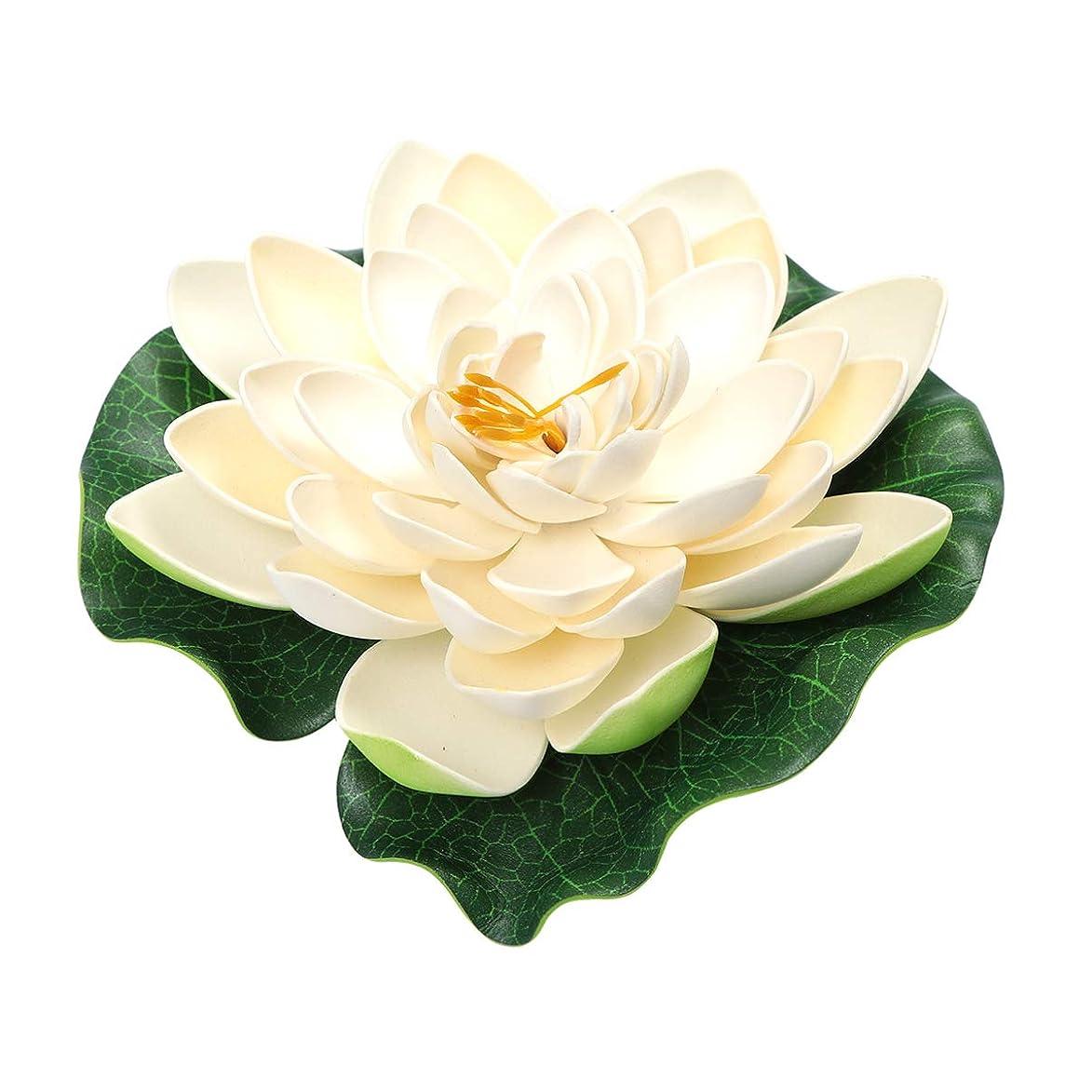 の間で金貸し特徴づけるCLISPEED 15ピース人工蓮の花浮動池装飾スイレンフラワーパッド装飾用ガーデンパティオプール水族館装飾