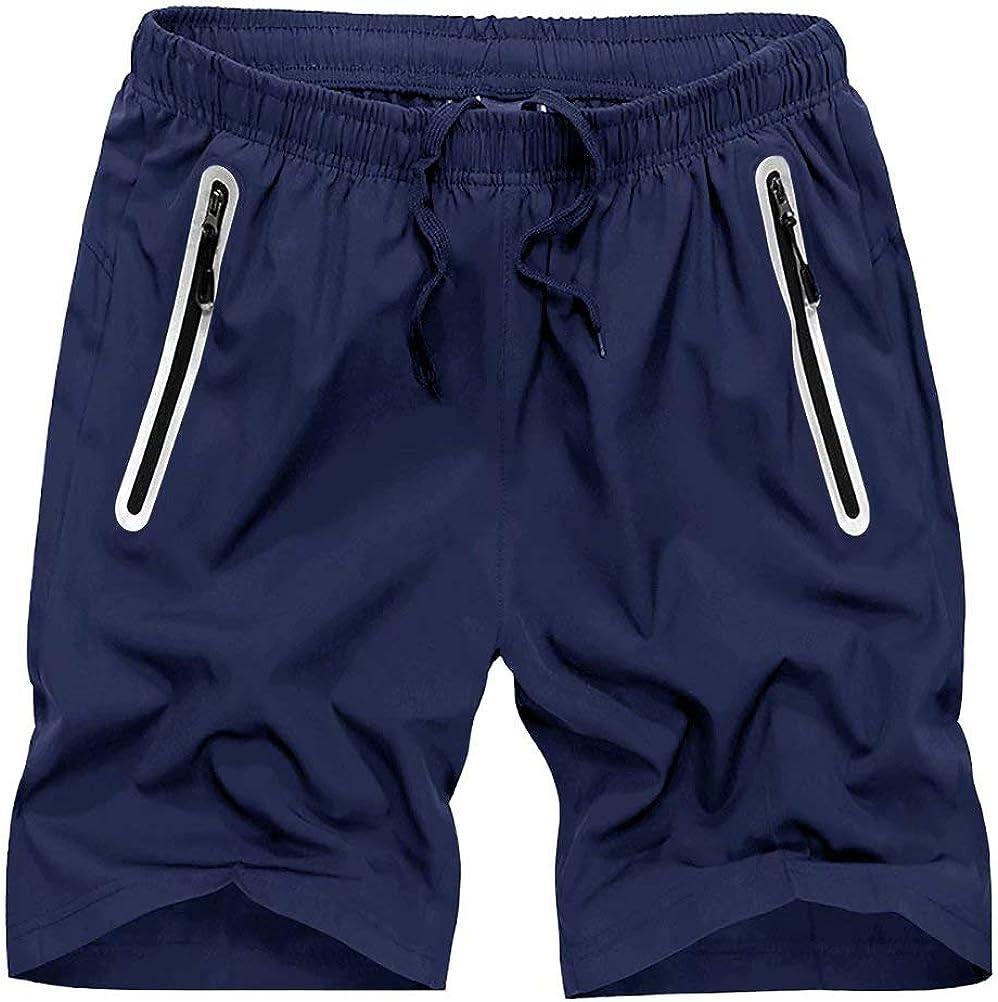 HOPATISEN Men's Running Shorts Quick Atlanta Mall Workout Dry Gym sale Drawstring