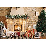 【Size&Color】:Backdrop Only,7ft(width) x 5ft(height)/(86in x 61in), High-resolution digital print with eye-catching details and colorful fireplace . 【Material】:Durable/Soft Fabric Polyester Compared to vinyl,our high quality polyester farbic won't b...