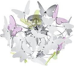 Reality Leuchten R60213017 Vlinder A++ Tot E, Plafondlamp, Acryl, G9, Meerkleurig, 45 x 45 x 28.5 cm