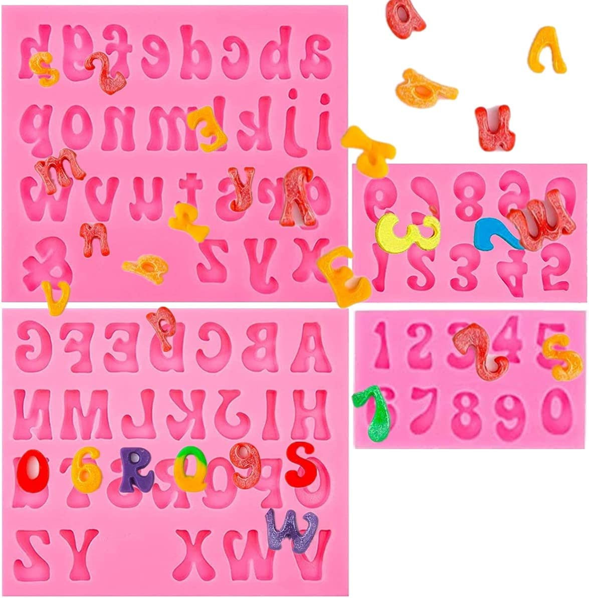 Letters and Number Silicone Fondant Sacramento Mall Fashion S Uppercase Lowercase Molds