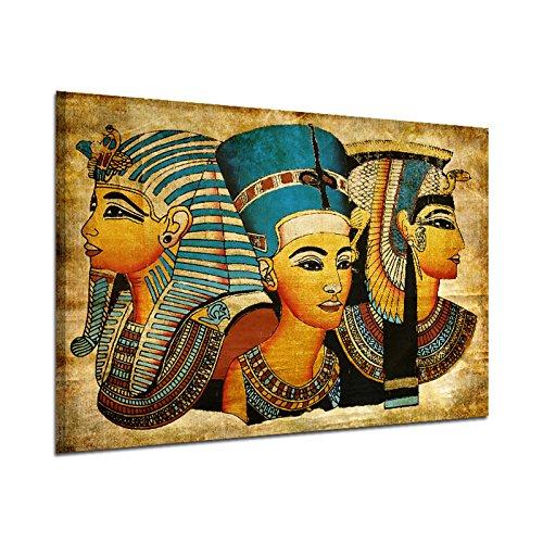 Fenghong Leinwand Wandkunst, alte ägyptische Wandbild Vollbild Ölgemälde 40 * 60 cm Ägypten Wandmalerei Öl-Bild Full-Figur Pharao Home Decor