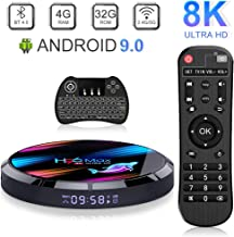Android 9.0 TV Box 4GB 32GB EstgoSZ H96 Max X3 Android TV Box Amlogic S905X3 64-bit A55 CPU G31 GPU Support 2.4G/5G Wifi/1000M LAN/BT 4.0/USB3.0/H265/HD2.1/3D 4K/8K Smart TV Box with Wireless Keyboard
