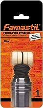 Prumo para Pedreiro Famastil – Metal – 500g – Prumo + Corda + Taco – Ideal para construção e engenharia civil