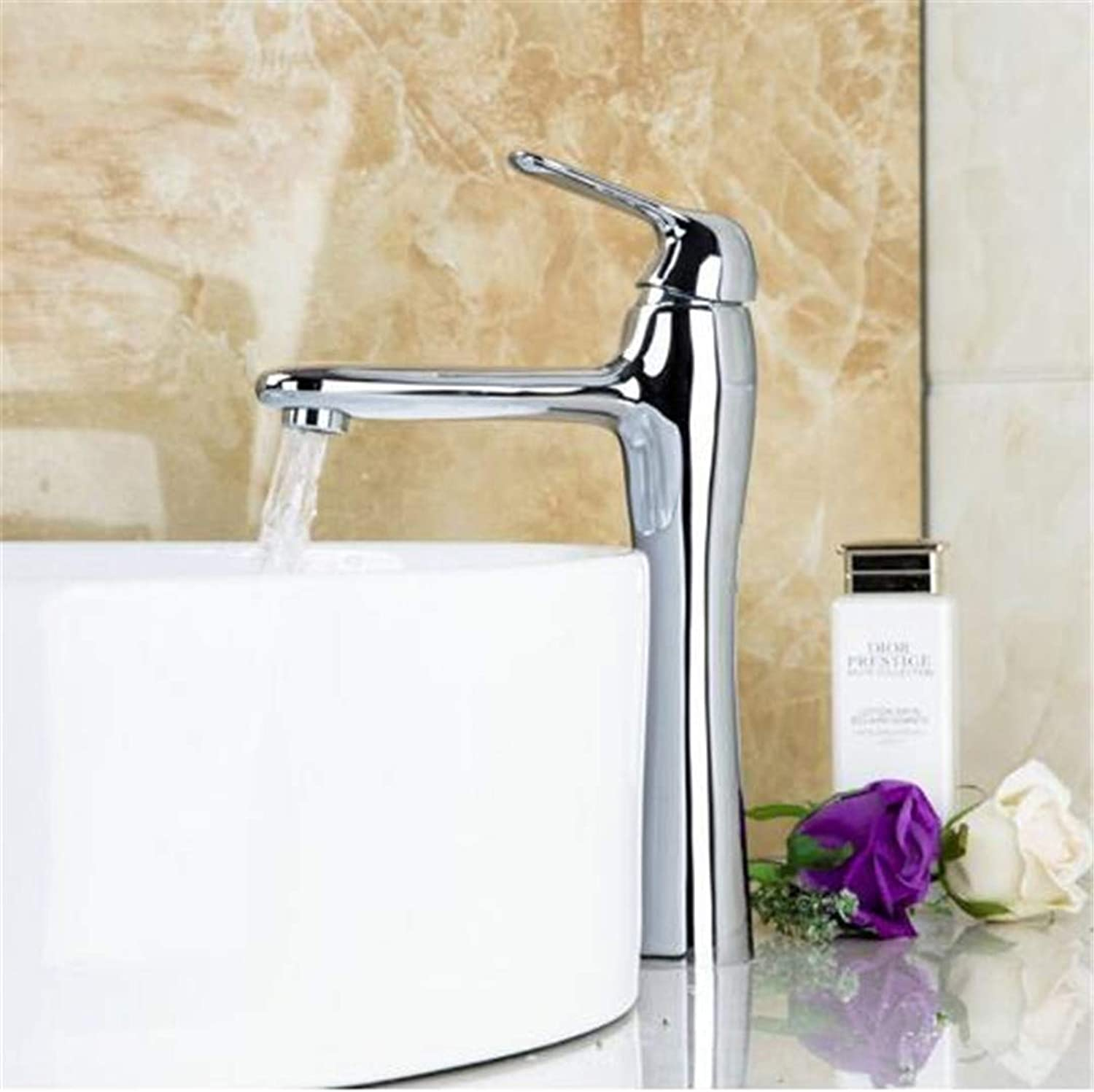 Oudan Taps Kitchen Faucet Bathroom Taps Faucet Waterfall Tapbathroom Basin Vessel Sink Mixer Hot Cold Water Tap Deck Mounted Single Handle Faucet Bathroom Chrome Basin Faucets (color   -, Size   -)
