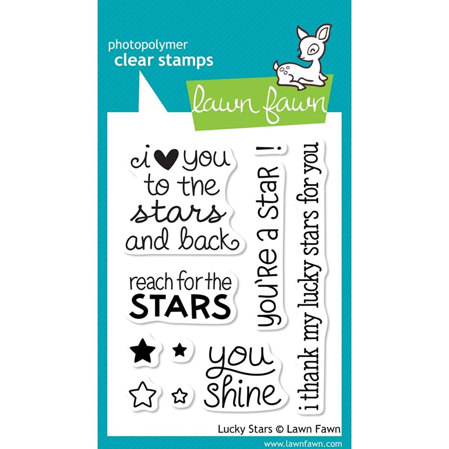 Lawn Fawn Clear Stamps-Lucky Stars