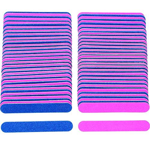 Nagelfeilen 100 Stück Profi Nagelfeile Set 180/240 Doppelseitige Einwegnagelfeile Nagelfeilen Einweg für Gelnägel, Künstliche Fingernägel