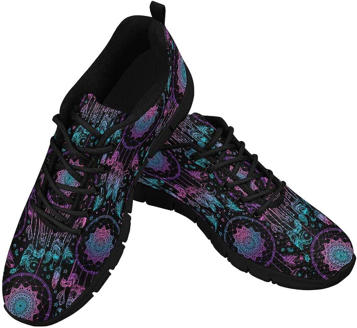 INTERESTPRINT Dream Catcher Boho Mandala Women's Breathable Sneaker