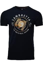 Lambretta Teal Green Target with Union Jack Guitar Retro T-Shirt