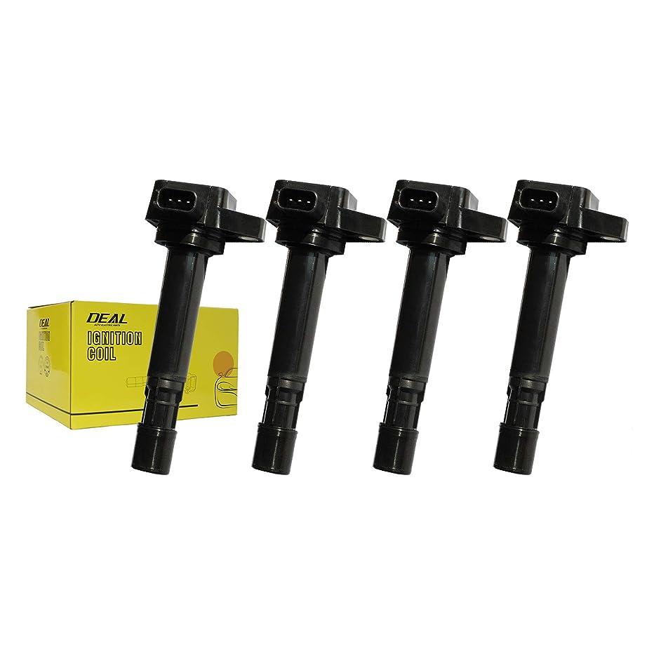 DEAL Pack of 4 Ignition Coil on Plug Pack for Civic/EL 1.7L Pilot/MDX/Ridgeline/Vue V6 UF400 C1460