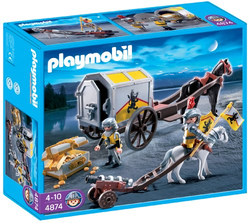 Playmobil 4874 Knights Lion Knights Treasure Transport