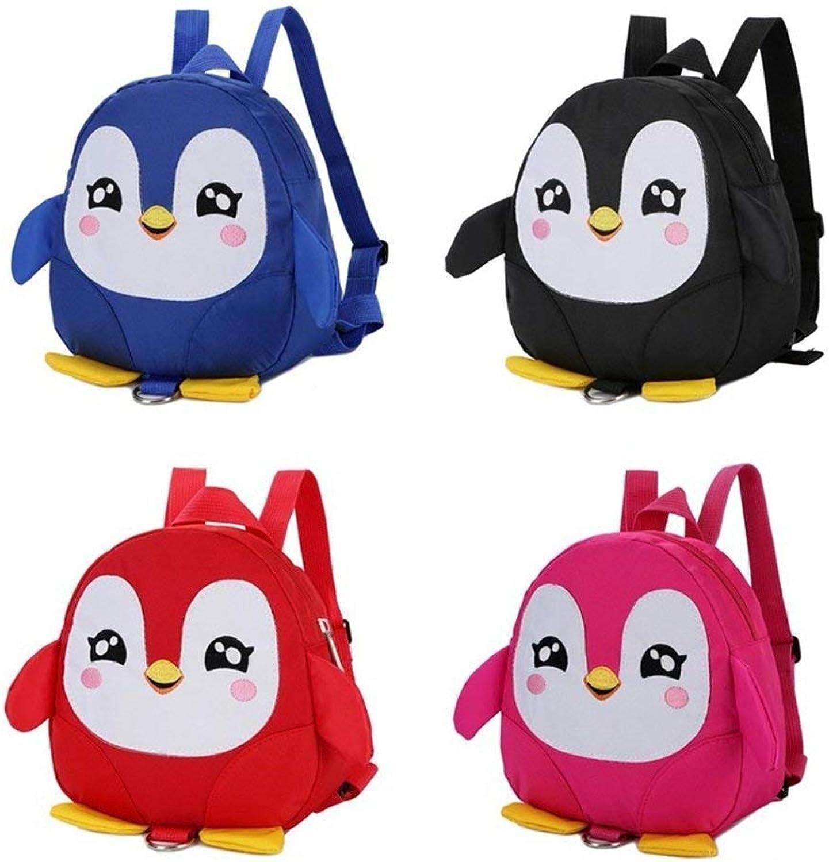 JINQD Home Personnalité Sacs à Dos voituretable pour Enfants voituretoon Penguin Forme Maternelle Jouet Sac à Dos (Couleur   noir)