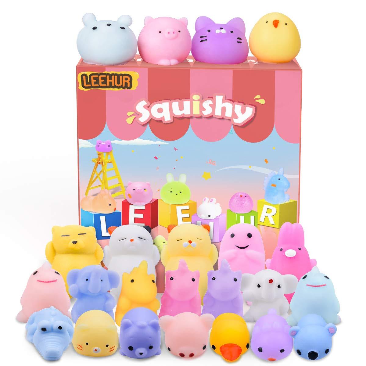 LeeHur Mini Juguete Squishy Juguetes Suave de Alivio de Estrés, Juguetes Curativos Divertidos para Niños y Adultos (20 Animales): Amazon.es: Juguetes y juegos