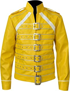 Freddie Mercury Wembley Rock Band Queen Concert Yellow Cosplay Costume Jacket