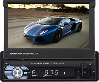 RuleaxAsi 1# 9601 Car MP5 Player 7in Screen Car Stereo AM FM Radio BT Video Media Player Contact Screen Car Electronics