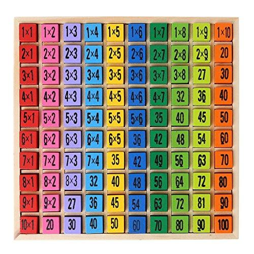 Tabla de multiplicación de madera enseñanza temprana rompecabezas niños educativo niño juguete