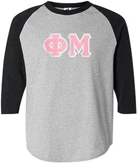 Phi Mu Lettered Raglan Shirt