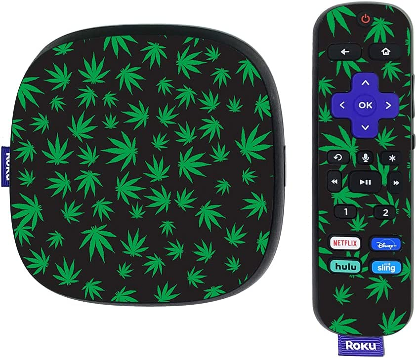 MightySkins Skin Compatible with Roku Ultra HDR 4K Streaming Media Player (2020) - Marijuana | Protective, Durable, and Unique Vinyl Decal wrap Cover | Easy to Apply | Made in The USA