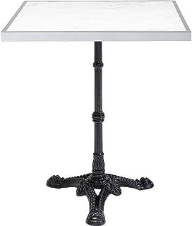 Table Bistrot carrée 60x60cm marbre Blanc Kare Design