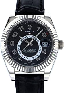Sky-Dweller Mechanical (Automatic) Black Dial Mens Watch 326139 (Certified Pre-Owned)