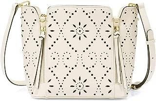 HXSD Large Capacity Handbags, Sweet Hollow Design, Fashion Multi-Color Messenger Bag, Casual Leather Bags (Color : Beige)