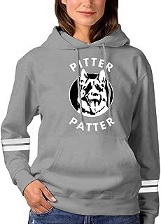 Women's Letterkenny Pitter Patter Dog Pullover Hoodies Long Sleeve Hooded Sweatshirt